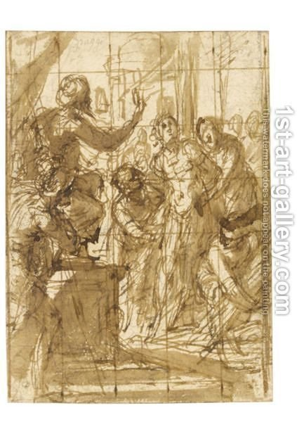 Study For A Scene Of Martyrdom by Giovanni Battista Paggi - Reproduction Oil Painting