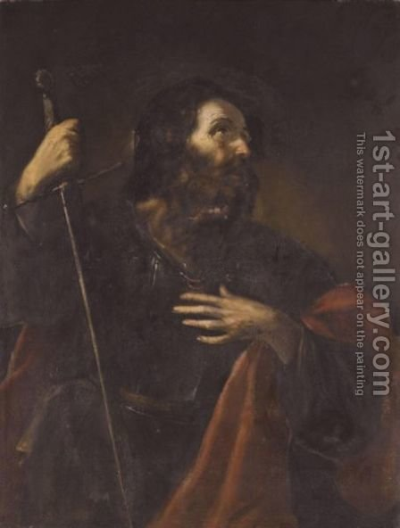 Saint Paul by (after) Mattia Preti - Reproduction Oil Painting