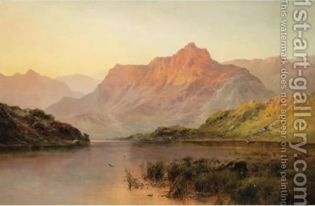 Cader Idris From Llyn-Y-Gader by Alfred de Breanski - Reproduction Oil Painting