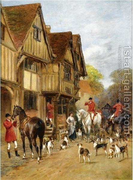 The Meet 3 by Heywood Hardy - Reproduction Oil Painting