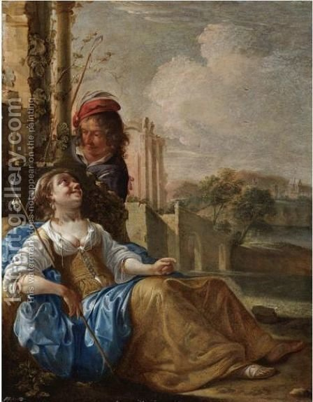 Paris And Oenone by Jacob Duck - Reproduction Oil Painting