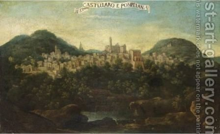 Veduta Di Castellaro E Pompeiana by Italian School - Reproduction Oil Painting