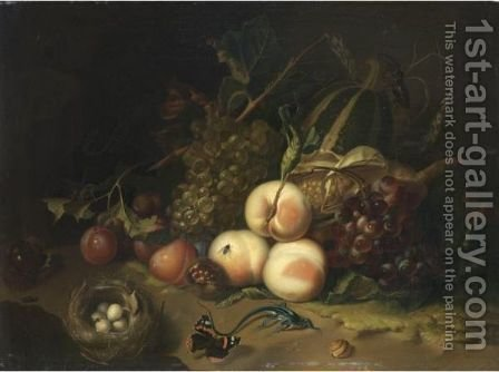 Natura Morta Con Frutta by (after) Rachel Ruysch - Reproduction Oil Painting