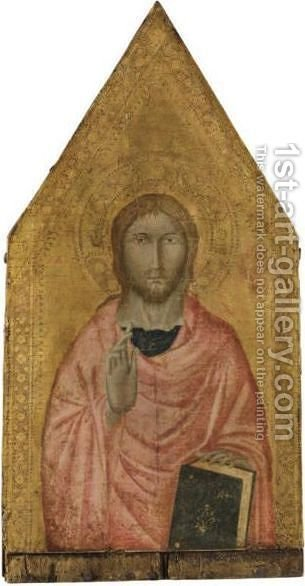 Cristo Benedicente by Italian School - Reproduction Oil Painting