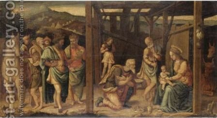Adorazione Dei Magi by (after) Raffaellino Del Garbo - Reproduction Oil Painting
