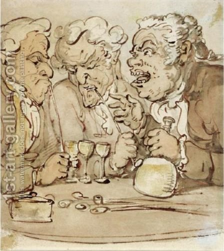 Boon Companions by Thomas Rowlandson - Reproduction Oil Painting