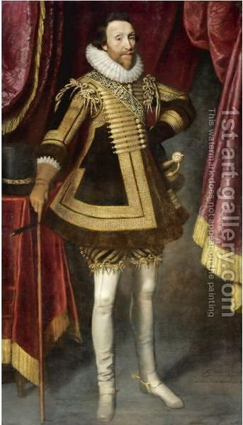 Portrait Of James Hay, 1st Earl Of Carlisle (1580-1636) by (after) Michiel Jansz. Van Mierevelt - Reproduction Oil Painting