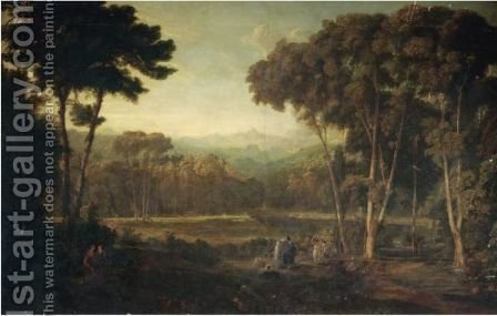 An Extensive Italianate Landscape by (after) William Leighton Leitch - Reproduction Oil Painting
