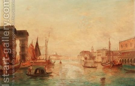 The Ducal Palace, Venice by Alfred Pollentine - Reproduction Oil Painting
