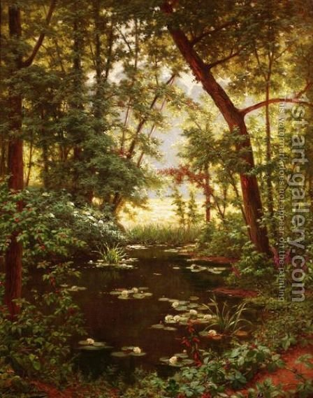 Les Nenuphars by Henri Biva - Reproduction Oil Painting