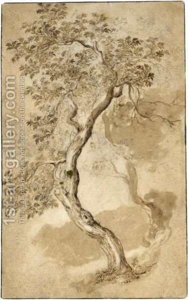 Study Of Two Trees by Abraham Bloemaert - Reproduction Oil Painting