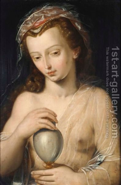 Mary Magdalene by Adriaen Thomasz. Key - Reproduction Oil Painting