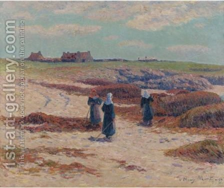 Les Goemons A Trevignon, Finistere by Henri Moret - Reproduction Oil Painting