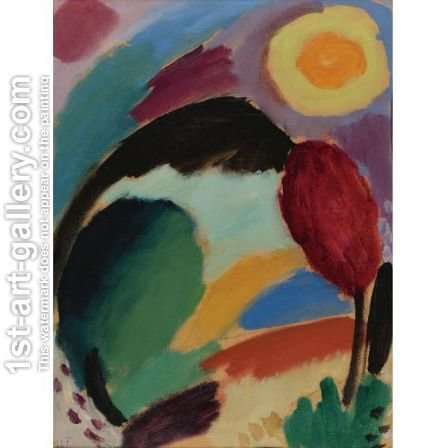 Variation Mit Sonne (Variation With Sun) by Alexei Jawlensky - Reproduction Oil Painting