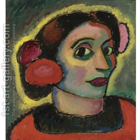 Spanierin (Spanish Woman) by Alexei Jawlensky - Reproduction Oil Painting