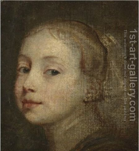 Head Of A Young Girl by (after) Dyck, Sir Anthony van - Reproduction Oil Painting