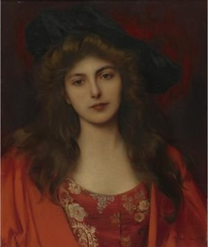 Reproduction oil paintings - Albert Lynch - The Red Brocade