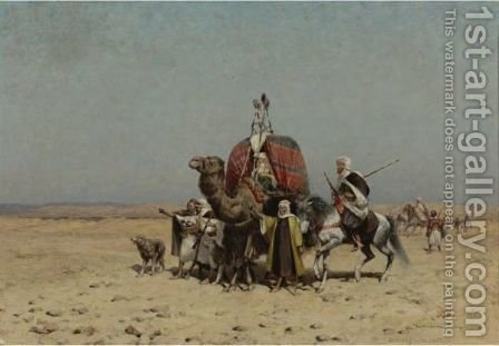 Danger In The Desert by Alfred Wordsworth Thompson - Reproduction Oil Painting