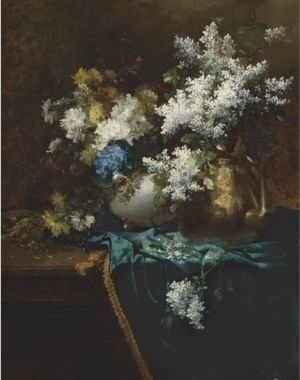 Still Life With Lilacs, Hydrangea And Chrysanthemums