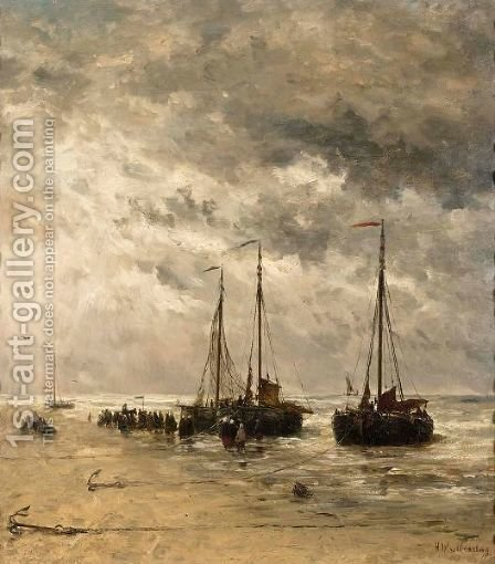Bomschuiten by Hendrik Willem Mesdag - Reproduction Oil Painting