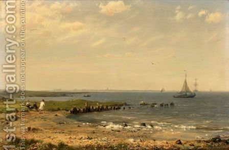 A View On The Zuiderzee by Hermanus Jr. Koekkoek - Reproduction Oil Painting