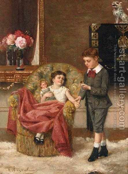The Young Doctor by Albert Roosenboom - Reproduction Oil Painting