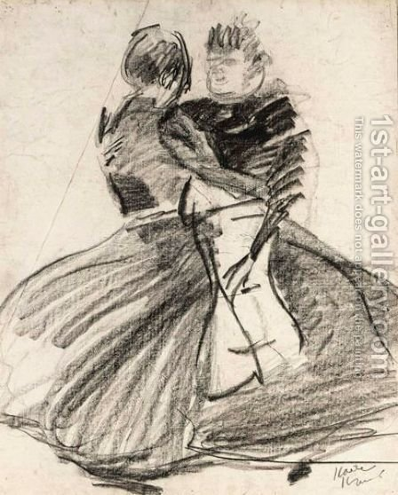 Two Girls Dancing by Isaac Israels - Reproduction Oil Painting