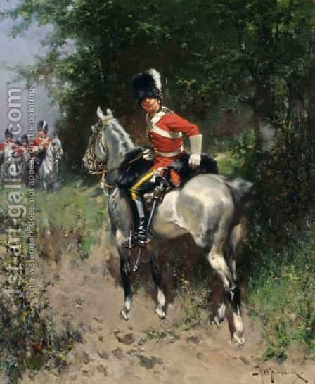 Hussars by Hermanus Koekkoek - Reproduction Oil Painting