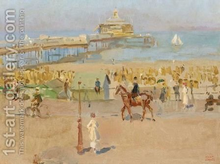 A View Of The Pier In Scheveningen by Isaac Israels - Reproduction Oil Painting