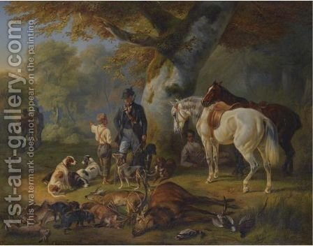 Die Erfolgreiche Jagd (The Successful Hunt) by Adam Albrecht - Reproduction Oil Painting