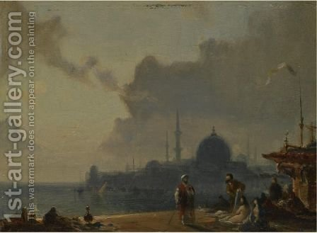 Constantinople Au Clair De Lune by Amédée Rosier - Reproduction Oil Painting