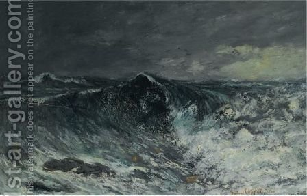 La Vague 5 by Gustave Courbet - Reproduction Oil Painting