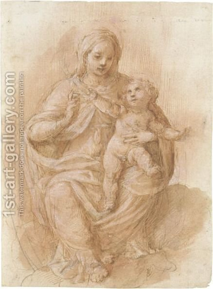 Madonna Con Bambino 2 by Italian School - Reproduction Oil Painting