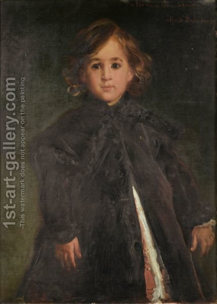 Portrait Of A Child by Alfred Dehodencq - Reproduction Oil Painting