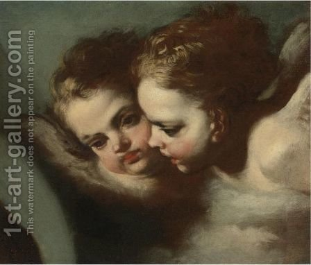 Two Putti by (after) Francesco Solimena - Reproduction Oil Painting