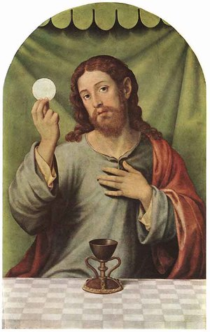 Juan De (Vicente) Juanes  (Masip) reproductions - Christ with the Chalice