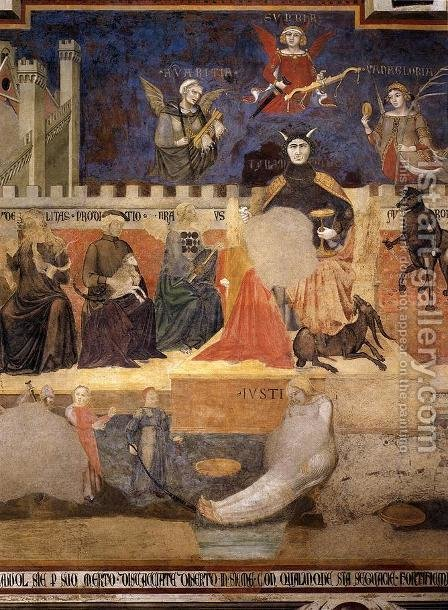Allegory Of Bad Government (detail) by Ambrogio Lorenzetti - Reproduction Oil Painting