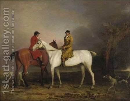 Thomas Oldacker Out Hunting by (after) Benjamin Marshall - Reproduction Oil Painting