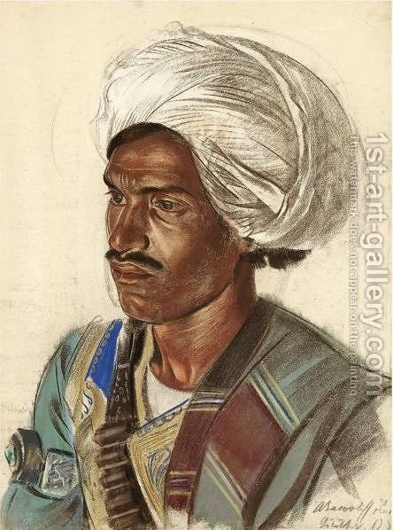 Study Of An Afghan by Alexander Evgenievich Yakovlev - Reproduction Oil Painting