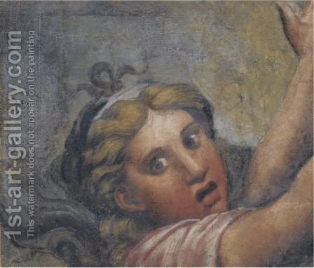 Head And Outstretched Arms Of A Fleeing Girl by (after) Giulio Pippi, Called Giulio Romano - Reproduction Oil Painting