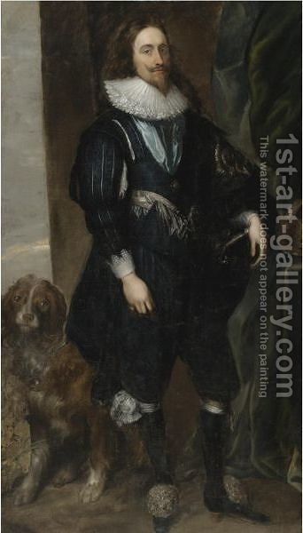 Portrait Of King Charles I 3 by (after) Dyck, Sir Anthony van - Reproduction Oil Painting