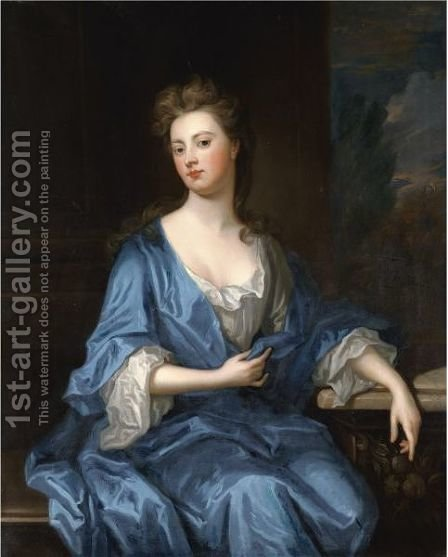 Portrait Of Sarah Churchill, Duchess Of Marlborough (1660-1744) by (after) Kneller, Sir Godfrey - Reproduction Oil Painting
