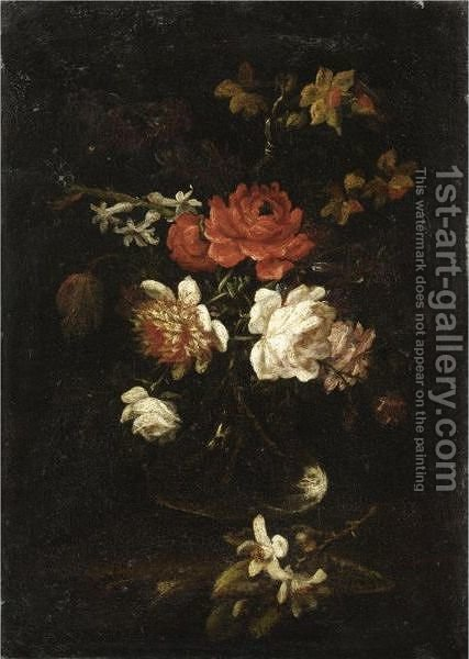 Natura Morta Con Vaso Di Fiori by (after) Elisabetta Marchioni - Reproduction Oil Painting