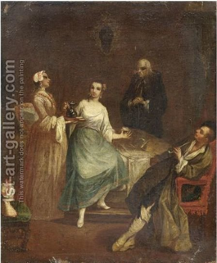 Scena D'Interno by (after) Longhi, Pietro - Reproduction Oil Painting