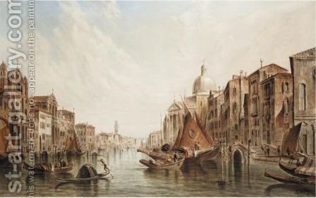 Venice by Alfred Pollentine - Reproduction Oil Painting