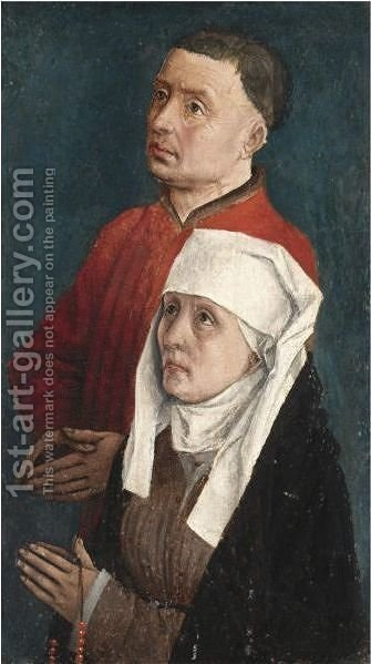 A Male And Female Donor by (after) Rogier Van Der Weyden - Reproduction Oil Painting