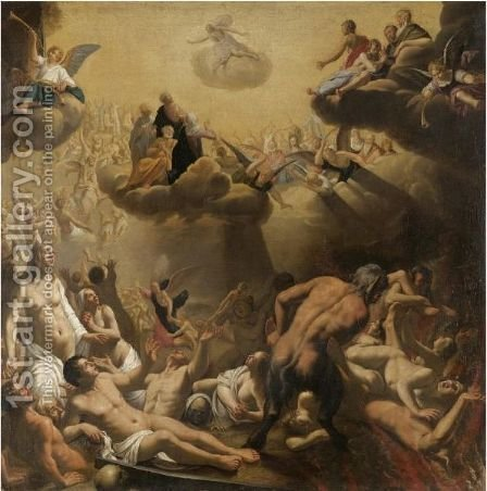 The Last Judgement by (after) Ludovicus Finsonius (see FINSON, Louis) - Reproduction Oil Painting