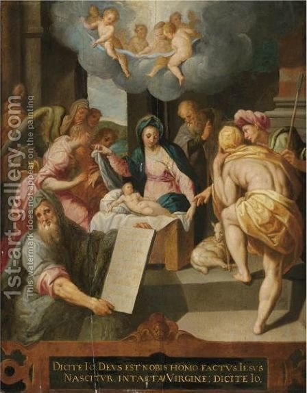 The Adoration Of The Shepherds by Jacob De Backer - Reproduction Oil Painting