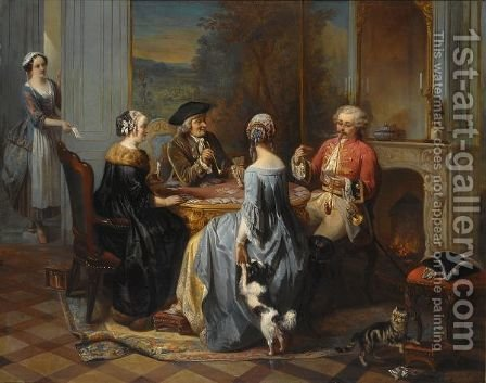 Le Solo Compromis by Adrien Joseph Verhoeven-Bell - Reproduction Oil Painting