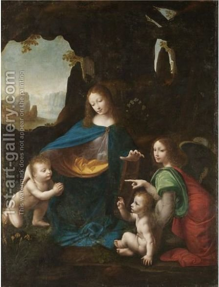 The Madonna Of The Rocks by (after) Leonardo Da Vinci - Reproduction Oil Painting